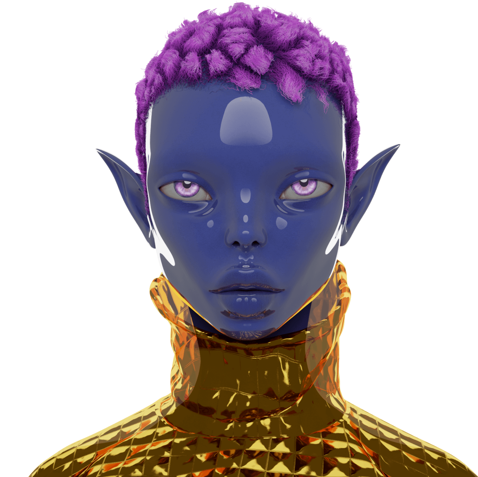 Virtual character face